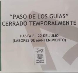 «PASO DE LOS GUÍAS» Cerrado Temporalmente.